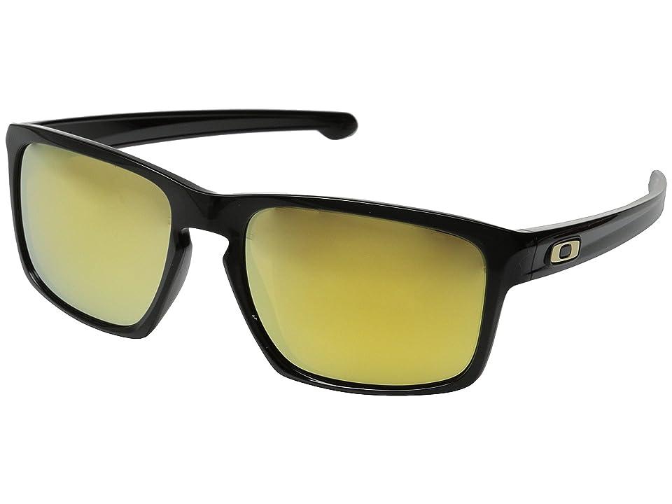 Oakley Sliver (Polished Black/24K Iridium) Sport Sunglasses