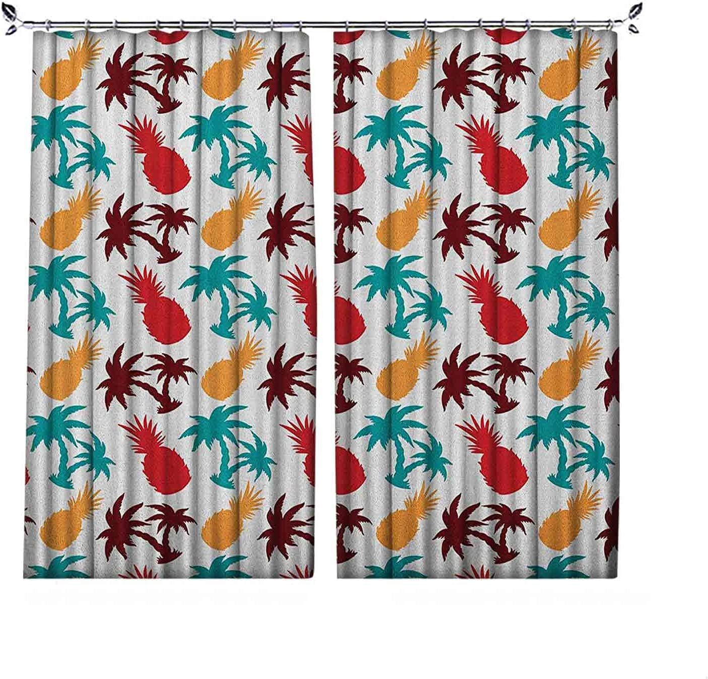 Room Darkening Pine Curtain Colored Lively Tropical Memphis Mall Multi New product