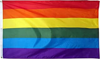 Online Stores Rainbow Printed Polyester Flag, 3 by 5-Feet