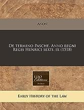 De termino Pasche. Anno regni Regis Henrici sexti. ix (1518) (Romance Edition)