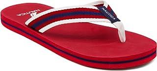 Nautica Men\'s Footrope Flip Flop, Beach Sandal, Boat Slide 9(M) Red