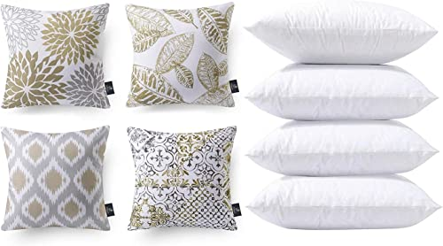new arrival Phantoscope Bundles, Set online of 4 New Living Series Coffee Pillow Covers 18 x 18 inches & Set of 4 Pillow Inserts 18 online sale x 18 inches sale