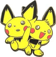 Pokemon Enamel PIN - Pichu BROS. - Custom 1.5 INCH - Baby Pikachu