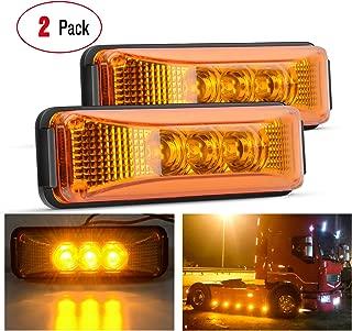 "Nilight TL-16 2PCS 3.9"" 3 Truck Trailer Amber Light Front Rear LED Side Marker"