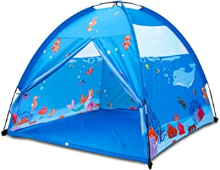 Homfu Play Tent for Kids Playhouse for Children Boys Popup Tent (Blue)