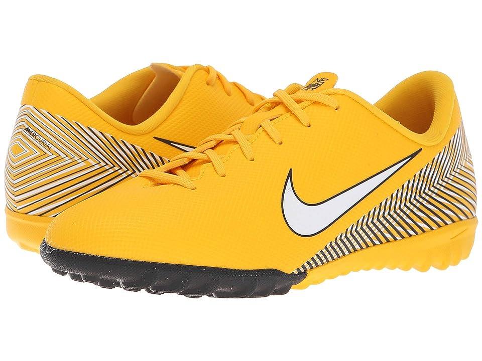 Nike Kids Neymar Jr. VaporX 12 Academy TF Soccer (Little Kid/Big Kid) (Amarillo/White/Black) Kids Shoes