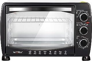 WOLTU BF09wsz mini piekarnik 20 litrowy piec do pizzy szklane drzwi z blachą do pieczenia z minutnikiem 100-250 ° C 1400 w...