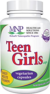 Michael's Naturopathic Programs Teen Girls - 120 Vegetarian Capsules - Daily Multivitamin Supplement with B Complex Vitami...