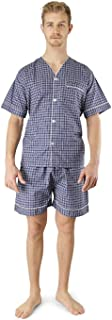Comfort Zone Men's Woven Pajama V-Neck Sleepwear Short Sleeve Shorts and Top Set, Sizes S/4XL