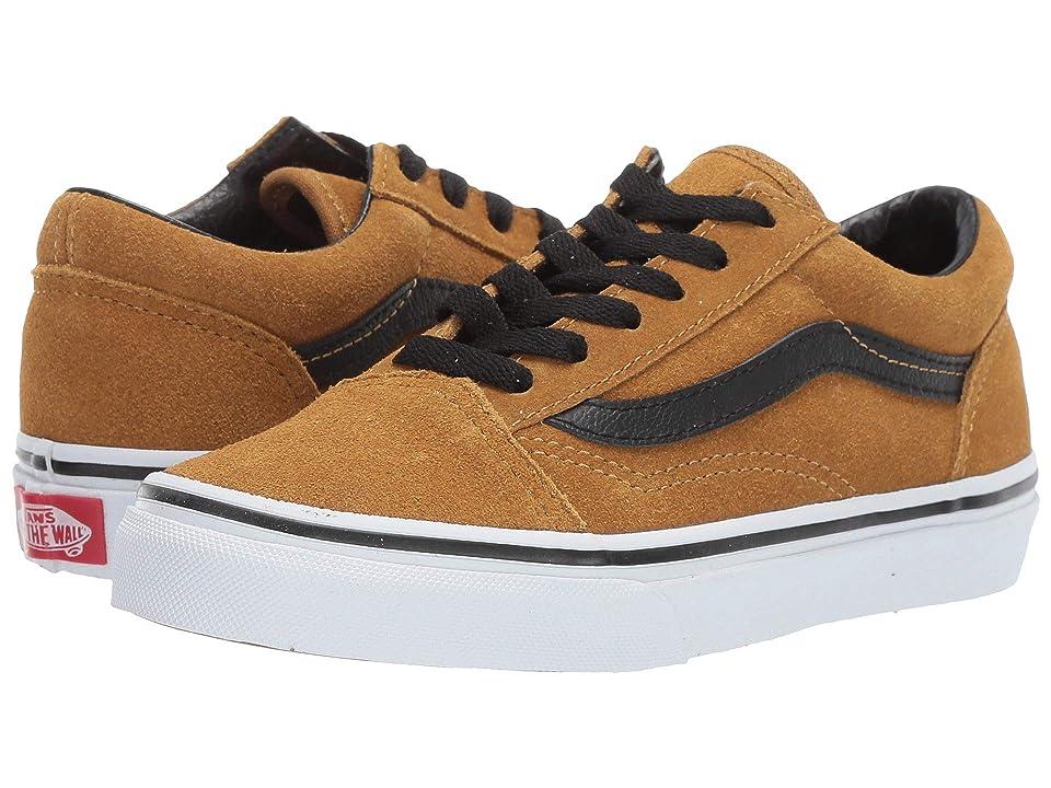 Vans Kids Old Skool (Little Kid/Big Kid) ((Suede) Cumin/Black) Boys Shoes