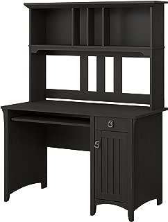 Bush Furniture Salinas Computer Desk with Hutch in Vintage Black