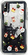 Snowflake Christmas Case for iPhone 7 8 6 6S Plus Soft TPU Quicksand Case for iPhone X Xr Xs Max Cover New Year Funda,4,for iPhone Xs