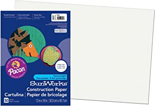 Pacon SunWorks Construction Paper 12-Inches by 18-Inches White