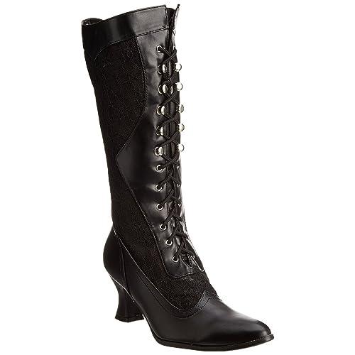 c53a3028ddc Ellie Shoes 253 Rebecca Womens Vintage Victorian Gothic Granny Lace up  Boots Black