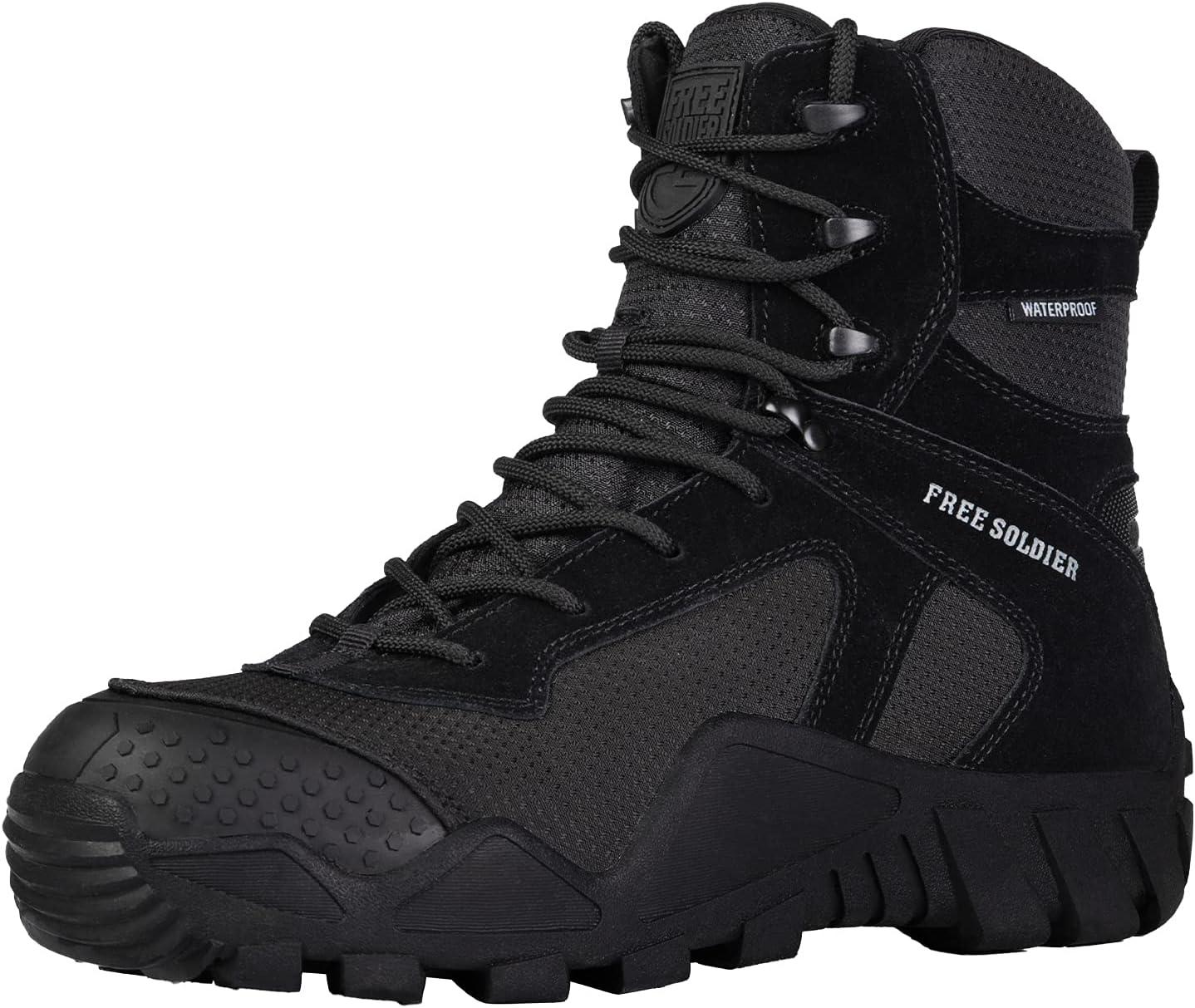 FREE SOLDIER Outdoor Men's Waterproof Boots 待望 Tactical Su Military オンラインショップ