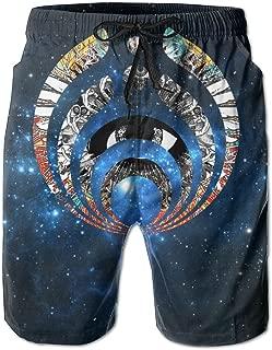 Bassnectar_Icon_Solid_Logo Mens Surf Fashion Swim Trunk Watershort Pants