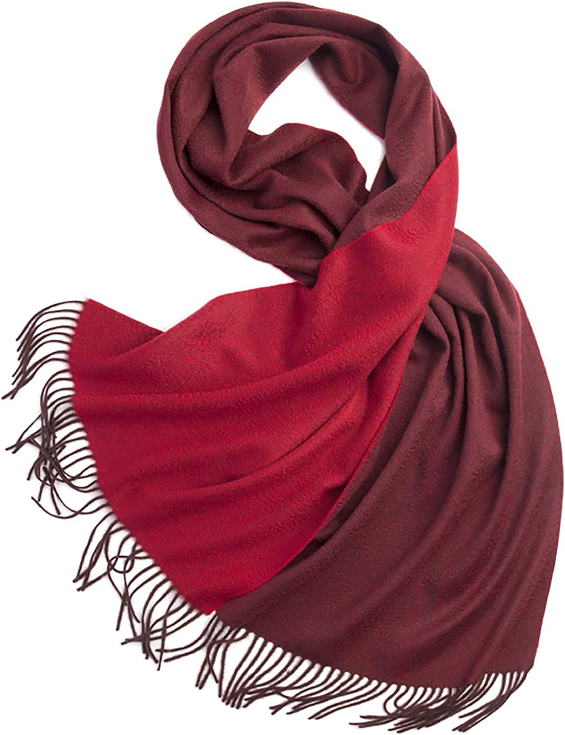 LIUMANG Ladies Print Scarf Ripple Solid Color Double-Sided Winter Scarf Ladies Cold-Proof Fashion Bib Shawl Shawl Style Poncho (Color : Red, Size : 200x40cm)
