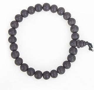 Aalayam Selveer Natural Unpolished Karungali Bracelets Original for Men & Women (Bead Size 8 mm) (Black)