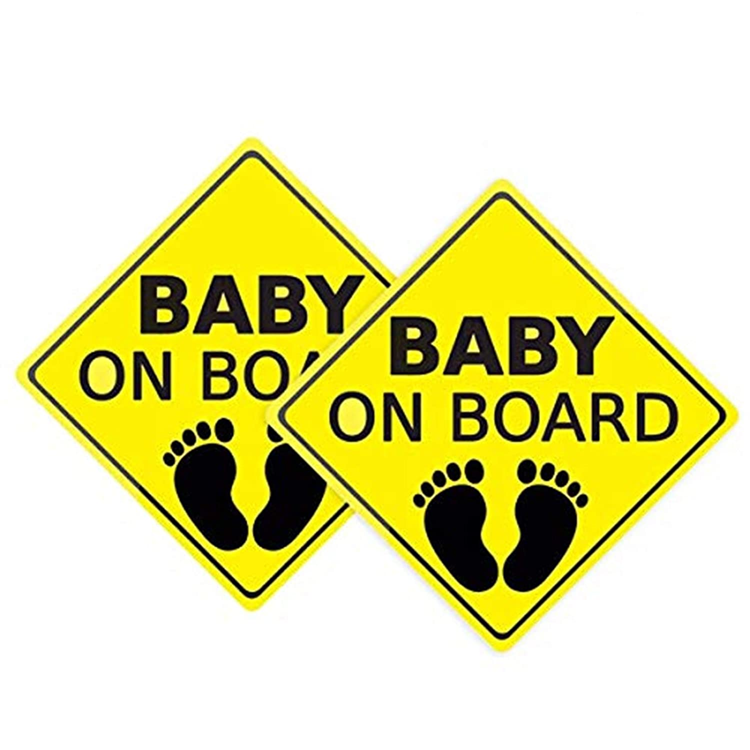 Baby ON Board Sticker for Cars, Baby On Board Sticker Sign, Reflective Vehicle Board Decal Sign, Car Decals Safety Signs Self, No Need for Suction Cup or Magnets