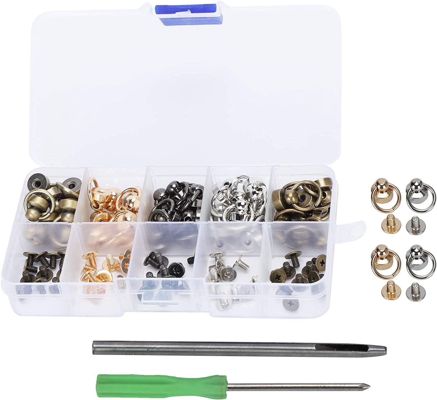 Rivets Set Ball Stud Rivet Pull Ring Mobile Cas Bargain Nail Phone Challenge the lowest price of Japan ☆ Screw