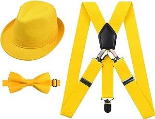 suspenders bow tie hat