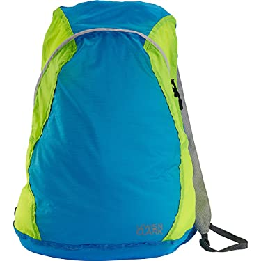Lewis N. Clark Packable Daypack, Hiking Camping Backpack, Ditty Bag, Blue/Neon, One Size