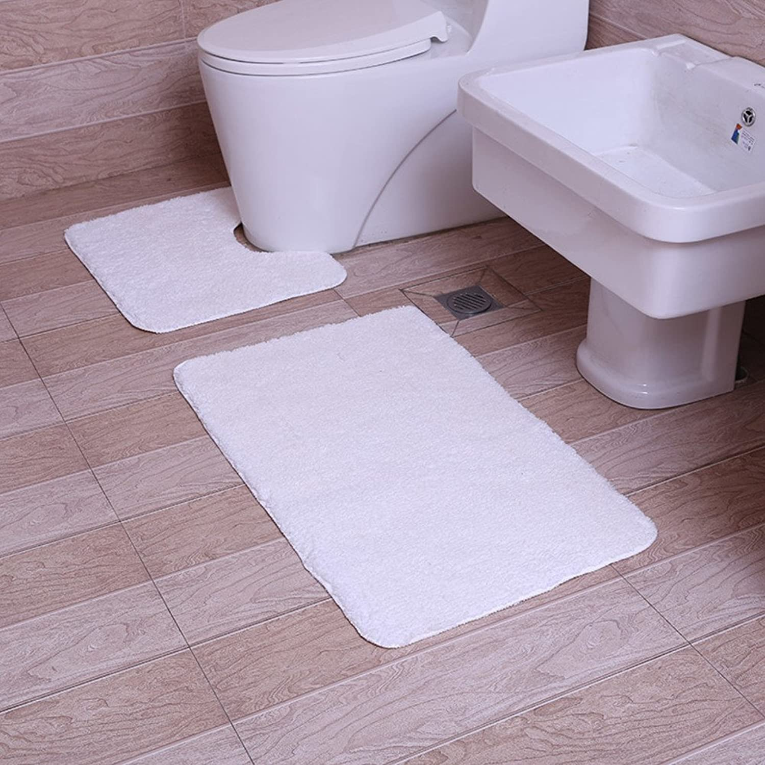 DXG&FX Bathroom u-shaped toilet mat vacuums absorbing water door mats home skid mats-A 45x50cm(18x20inch)