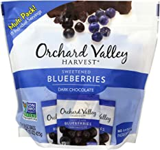 ORCHARD VALLEY HARVEST Dark Chocolate Blueberries, Non-GMO, No Artificial Ingredients, 1 oz (Pack of 15)