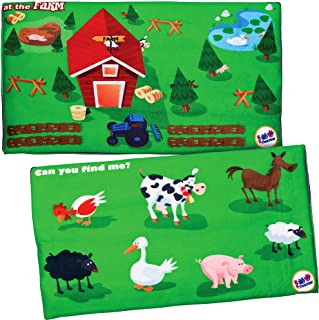 Fun and Function's Find Me™ Lap Pad - at The Farm - Activity Weighted Lap Pad for Children with Autism, ADHD, and Sensory Processing Disorder - 3 lb. 3x8 inches