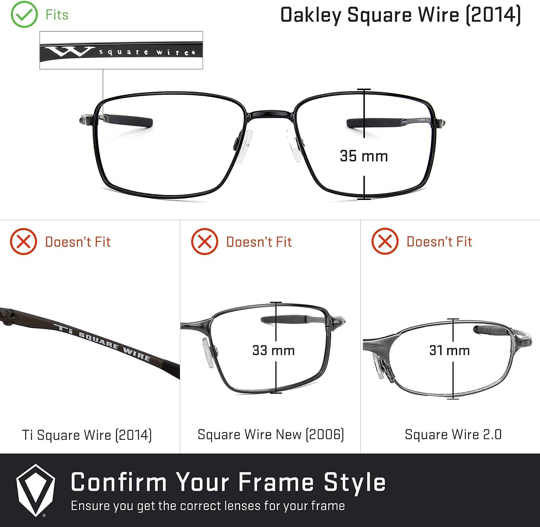 Revant Verres de Rechange pour Oakley Square Wire (2014) Rouge Feu Mirrorshield - Polarisés Elite