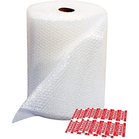 MERRIMEN Bubble Wrap 500mm x 60m Small Roll Handy Size/Easy Storage Bubble Wrap for Packing (375mm x 25m)