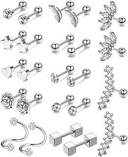 Achetez 3 Obtenez 1 Gratuit ~ Silver Star Dangle Boucles d/'oreilles ~ Mignon Cadeau de Noël pour ses femmes