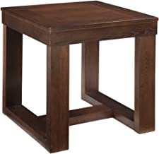 Watson Contemporary Brown Square End Table Modern and Minimal