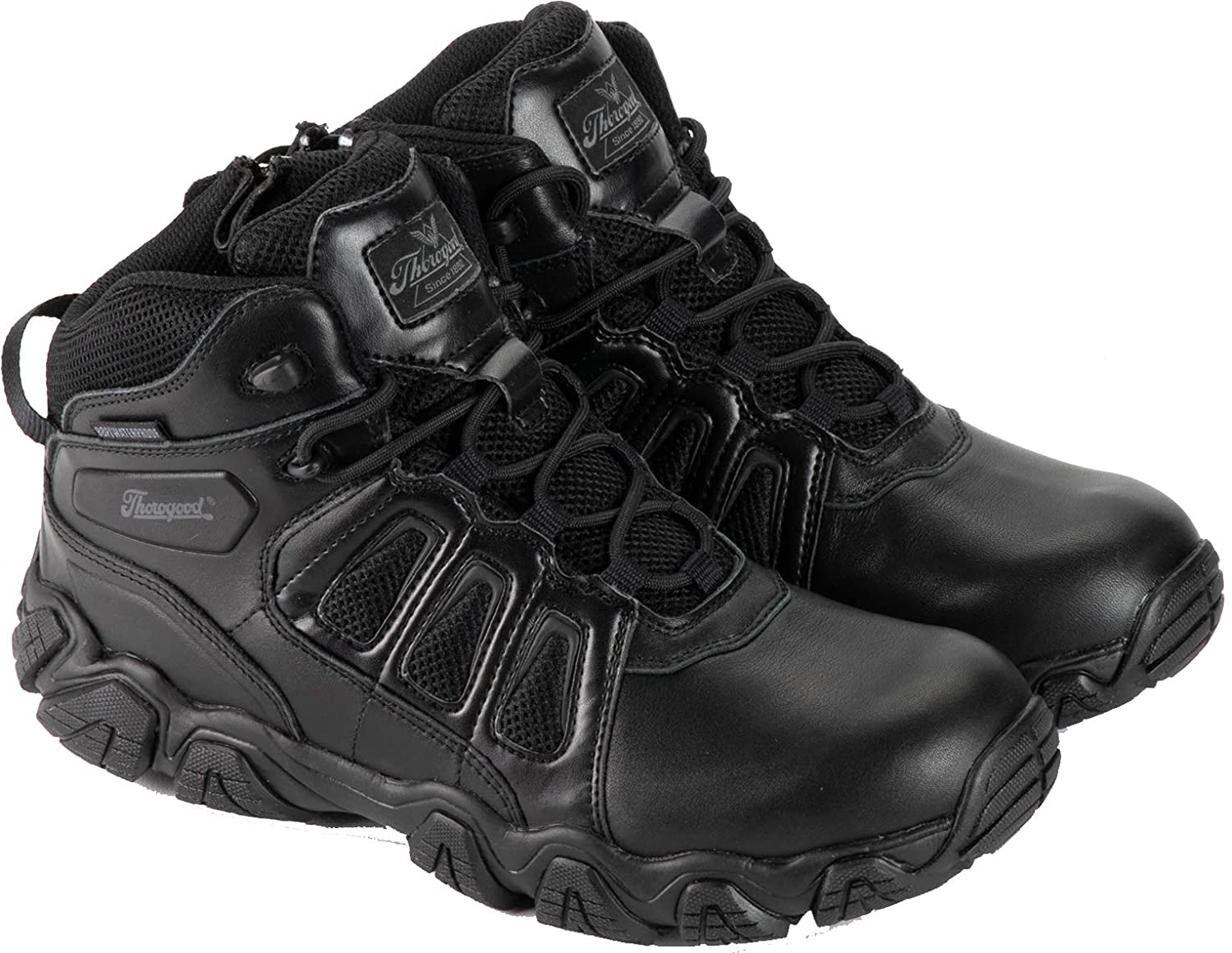 Thorogood Men's Crosstrex Limited Special Price Polishable Toe Cheap mail order specialty store Zip Waterpro Side – BBP