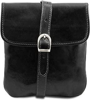 Tuscany Leather - Joe - Leather Crossbody Bag - TL140987 (Black)