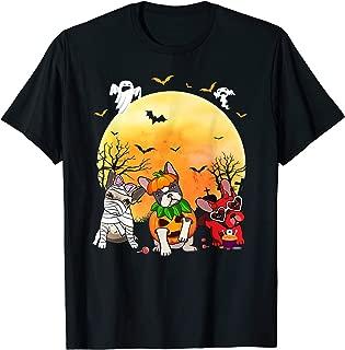 French Bulldog Dog Mummy Pumpkin Devil Halloween Costume T-Shirt