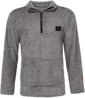 Mens Fleece Sweatshirt Velvet Jacket Coat Solid Pullover Overcoat Outwear