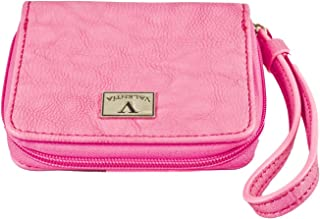 Valentia Cigars Women's Clutch Cigar Case, Synthetic Pink Leather