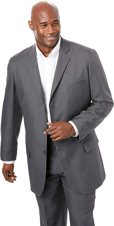 KS Signature by Kingsize Men's Big & Tall Easy Movement Three-Button Jacket