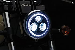 Kuryakyn 2462 Motorcycle Lighting Accessory: 5-3/4 Orbit Vision LED Headlight for Harley-Davidson,  Indian,  Victory Motorcycles