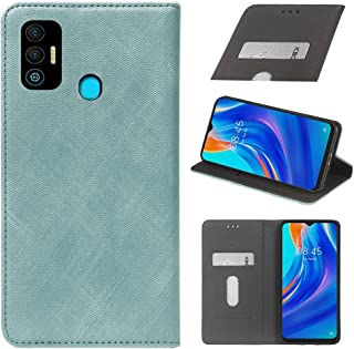 YLYT Business Shockproof - Blue Flip Leather Retro Cover With Stand Wallet Case For Tecno Spark 7T 6.52 inch With Card Slots