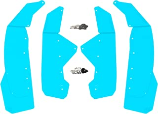RokBlokz Mud Flaps - Fender Flares for Can Am Maverick X3 - Multiple Colors Available - Full Set of 4 Mud Guards (Bright Blue, Fender Flares Only - NO Trailing Arm Guards)