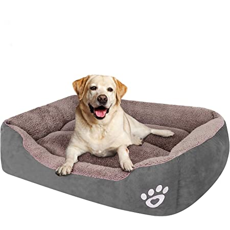 Amazon Com Pet Dog Bed For Medium Dogs Xxl Large For Large Dogs Dog Bed With Machine Washable Comfortable And Safety For Medium And Large Dogs Or Multiple Kitchen Dining