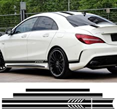 Edition 1 Style Stripe Top Roof Bonnet Side Skirt Stripes Vinyl Decal Stickers for Mercedes Benz W117 C117 X117 CLA 45 AMG CLA180 200 250 300 350 (Matte Black)