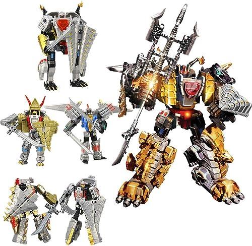 Deformiertes Roboterspielzeug, Roboter-Dinosaurier-Modell mit 5-in-einem-Modell - Absplastische ModellkonGrünierungsanimation Serie Action-Figur Toy Boy 6 Jahre alt (Style   F)