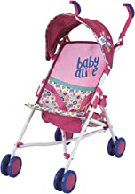 Best Baby Alive Doll Stroller with Retractable Canopy (D82091), Safety Harness for Baby Doll, Two-Toned Handle & Wheels, Storage Basket, Fits Dolls up to 24 inches - Foldable for Easy Toy Storage, Age 3+ Review