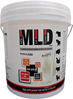 REFIT ANIMAL CARE - Mineral Feed Supplement for Cow, Cattle and Farm Animals to Easy Let Down Milk (M.L.D Powder 5 Kg.)