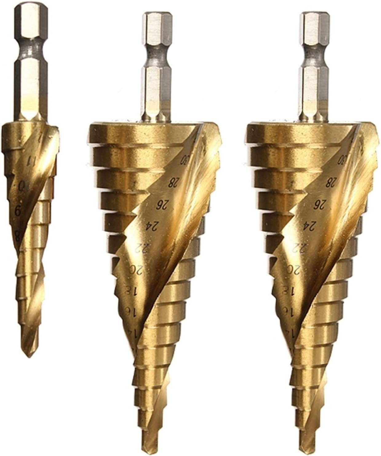 MOUNTAIN MEN Durable Special Campaign 3pcs Golden HSS Grooved Sales Step Spiral Helix D