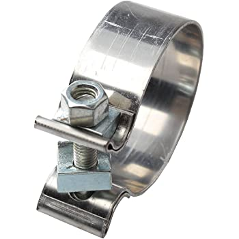 """BLACKHORSE-RACING 1.75"""" 1 3/4"""" Accuseal Clamp Butt Joint Narrow Band Exhaust Seal Clamp"""
