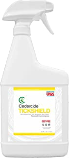 Cedarcide Tickshield Extra Strength with Lemongrass (Quart) Cedar Oil Biting Insect Spray Kills and Repels Fleas, Ticks, Ants, Mites and Mosquitoes Deep Woods Repellent